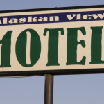 Alaskan View Motel sign